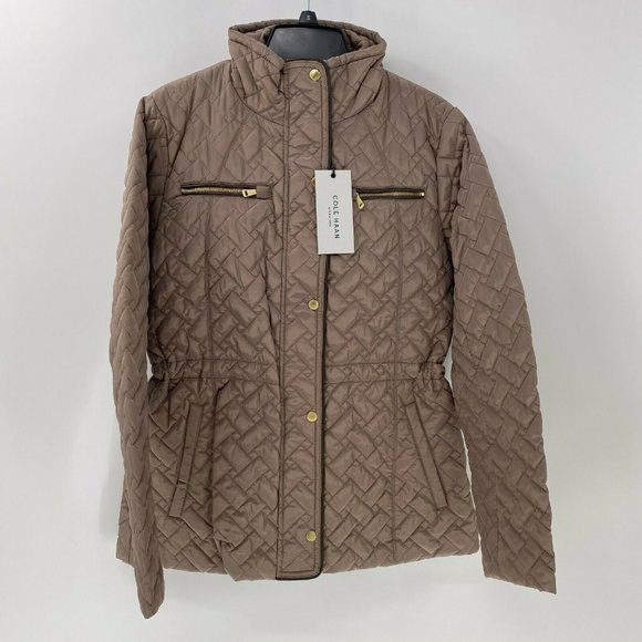 Cole Haan quilted anorak jacket S NWT